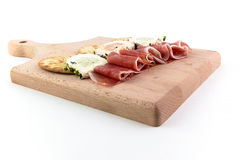 Ham and spices cheese Royalty Free Stock Photo