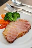 Ham steak slice Stock Photo
