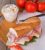 Ham Sub Sandwich stock afbeeldingen