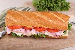 Ham Sub Sandwich Royalty Free Stock Photo