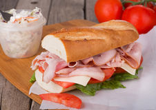 Ham Sub Sandwich Royalty Free Stock Photography