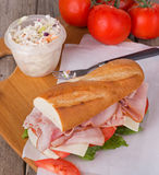 Ham Sub Sandwich Stock Images