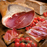 Ham sweet Italian and Tuscan bread Royalty Free Stock Image