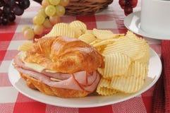 Croissant Sandwich Stock Photo