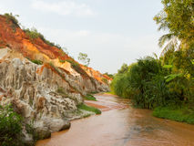 Ham Tien canyon in Vietnam Royalty Free Stock Photography