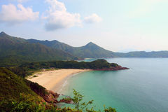 Ham Tin Wan beach in Hong Kong at day Royalty Free Stock Photo