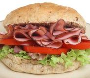 Ham, Tomaat & Sla Bap of Broodje stock fotografie