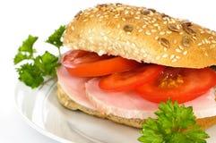 Ham & Tomato Bap Stock Photos