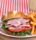 Ham, Tomato and Lettuce Sandwich Royalty Free Stock Image
