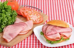 Ham and Tomato Sandwich Royalty Free Stock Photo