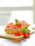Ham Tomato Sandwich Stock Image