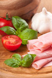 Ham & Tomatoes Royalty Free Stock Photo