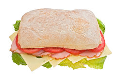 Ham, tomatoes and cheese ciabatta Stock Image