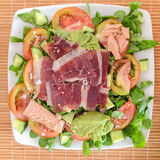 Ham and Tuna Salad Stock Image