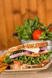 Ham Turkey Swiss Cheese Sandwich-Lunch Royalty-vrije Stock Foto