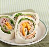 Ham and Turkey Wraps Stock Images