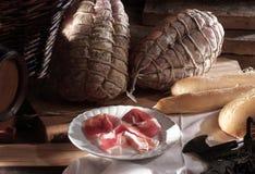 Ham typisch van Parma Stock Fotografie