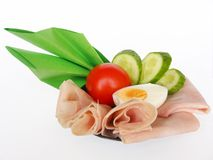Ham and vegetable Royalty Free Stock Photo