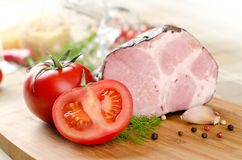 Ham and vegetables Royalty Free Stock Photo