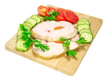 Ham with vegetables Stock Photography