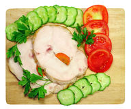 Ham with vegetables Royalty Free Stock Photo