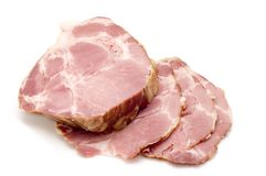 Ham on white Royalty Free Stock Images