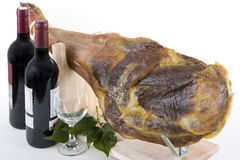 Ham with Wine 4 Stock Images