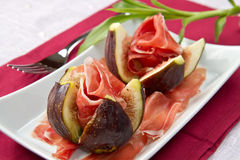 Ham With Fresh Fig Royalty Free Stock Photos