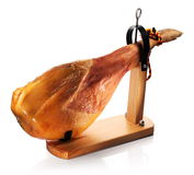 Ham on a wooden board. Royalty Free Stock Image