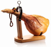 Ham on a wooden board. Stock Image