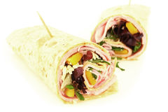Ham wrap Stock Photo