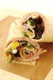 Ham wrap Stock Photo