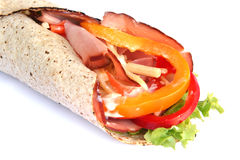 Ham Wrap Sandwich Royalty Free Stock Image
