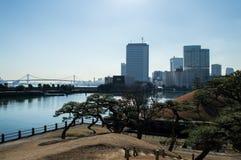 Hama Rikyu Garden en Tokio Fotos de archivo