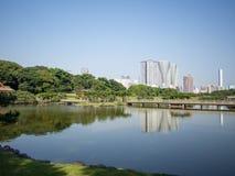 Hama Rikyu Garden hermoso, Tokio, Japón fotos de archivo