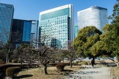 Hama Rikyu Garden in Tokyo Stock Photo