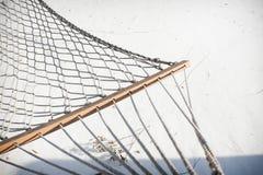 Hamac de corde pendant l'hiver Photos libres de droits