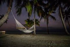 Hamac de nuit photographie stock