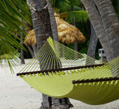 Hamac sur la plage dans des clés de la Floride Photo stock