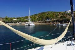 Hamac sur le yacht Images libres de droits