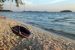 Hamaca en la playa Imágenes de archivo libres de regalías