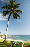 Hamaca en la playa Fotos de archivo libres de regalías