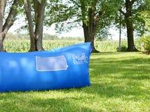 Hamaca inflable de la bolsa del viento Fotos de archivo libres de regalías
