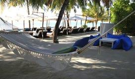 Hamaca por vacaciones ideales Foto de archivo libre de regalías