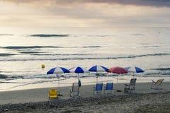 Hamaca y playa Fotografía de archivo