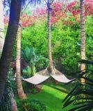 Hamacas centro turístico de cuatro estaciones, Lanai Fotografía de archivo libre de regalías