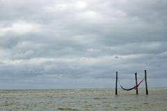 Hamacs en la playa Fotografía de archivo libre de regalías