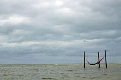 Hamacs na praia Fotografia de Stock Royalty Free
