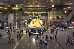 Hamad International Airport dans Doha Photographie stock