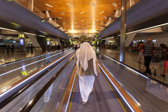 Hamad International Airport dans Doha Photo stock